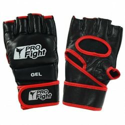 Rękawice MMA Gloves Profilfight PU czarne GEL r. S