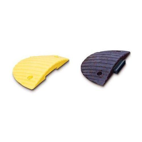 Pozostała odzież robocza i BHP, Próg spowalniający półokrągły - kolor żółty i czarny, wym. 250 x 500 mm, wys. 50 mm