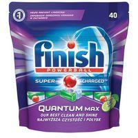 Kostki do zmywarek, Tabletki do zmywarek Finish Quantum Max jabłko i limonka 620 g (40 sztuk)