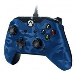 PDP Deluxe Wired Controller - Blue Camouflage - Gamepad - Microsoft Xbox One S