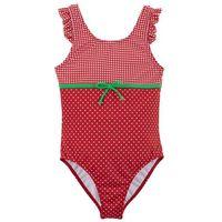 Sukienki dziecięce, Kostium kąpielowy dziewczęcy bonprix czerwono-biały