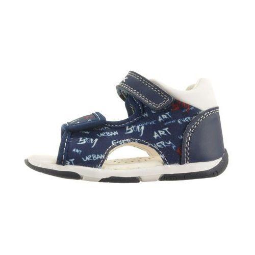 Sandały dziecięce, GEOX B920XA S.TAPUZ B. 0AW54 C4211 navy/white, sandały dziecięce, rozmiary: 20-25