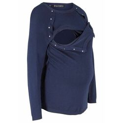Sweter ciążowy i do karmienia piersią bonprix ciemnoniebieski