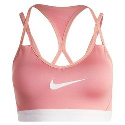 Nike Performance PRO INDY COOLNG Biustonosz sportowy red stardust/pure platinum