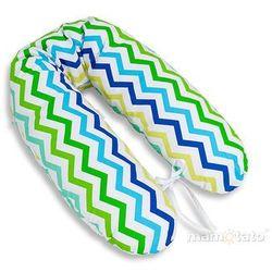 MAMO-TATO Poduszka dla kobiet w ciąży Zygzak niebiesko-zielony