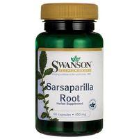 Preparaty do nosa, Swanson Kolcorośl Sarsaparyla (Sarsaparilla) 450 mg 60 kapsułek