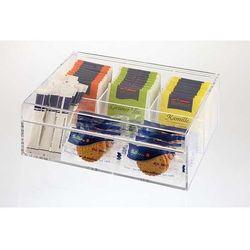 Pudełko ekspozycyjne na herbatę | przeźroczyste | 220x170x(H)90mm