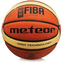 Piłka koszykowa Meteor Treningowa brązowo-kremowa 7 FIBA