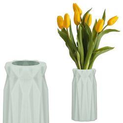 Wazon 18cm nietłukący na kwiaty do salonu, kuchni miętowy nowoczesny