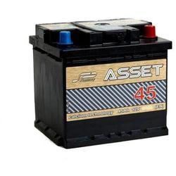 Akumulator ASSET 45Ah 380A EN PRAWY PLUS niski