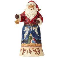 Ozdoby świąteczne, Mikołaj Radosna Nowina Joy To The World Santa 4058782 Jim Shore figurka ozdoba świąteczna