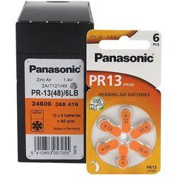 60 x baterie do aparatów słuchowych Panasonic 13 / PR13 / PR48