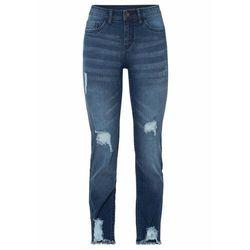 Spodnie z nadrukiem bonprix ciemnoniebieski