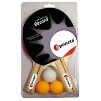 Tenis stołowy, Zestaw rakietek do tenisa stołowego + 3 piłeczki Sponeta Record