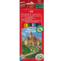 Kredki, Kredki ołówkowe 12kol. Faber-Castell Eco + temp. 120112