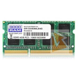 DDR3 4 GB 1333MHZ SODIMM GOODRAM CL9 512x8 Single Rank