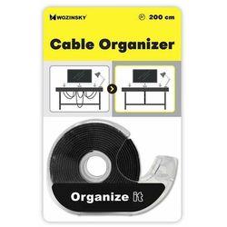Wozinsky taśma rzepowa rzep organizer kabli 2 m Hook and Loop czarny (WVO2MBK)
