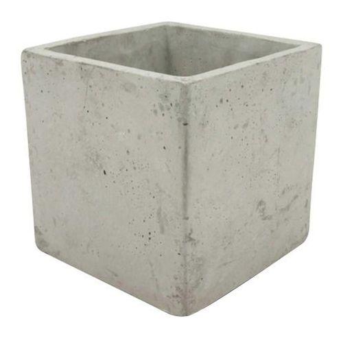 Doniczki i podstawki, Osłonka doniczki kwadratowa 16 cm szary beton