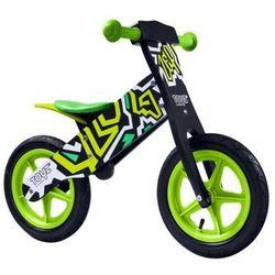 Solidny drewniany rowerek biegowy gumowe koła Toyz ZAP