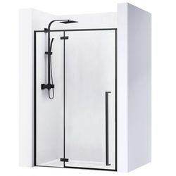 Drzwi prysznicowe szerokość 100 cm czarne profile Fargo Rea UZYSKAJ 5 % RABATU NA ZAKUP