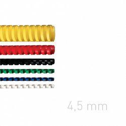 Grzbiety plastikowe O.COMB 4,5mm niebieskie 100szt./op. OPUS