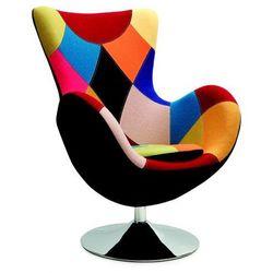 Obrotowy fotel uszak wypoczynkowy Zoltis - patchwork