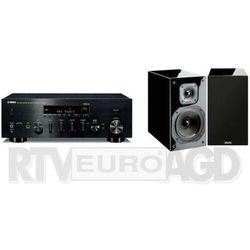 Yamaha MusicCast R-N803D (czarny), Indiana Line Diva 252 (czarny połysk)