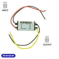 NVOX MANOSTAT 5A Przetwornica reduktor napięcia z 24V na 12V o mocy 60W