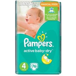 Pampers Active Baby - Dry Pieluchy rozmiar 4 maxi 76 szt.