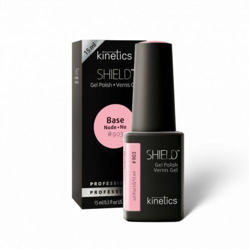 Podkłady i bazy do paznokci, Kinetics Shield BASE NUDE UNITED PINK Baza hybrydowa Nude (903)