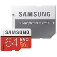Karty pamięci, Karta pamięci Samsung MICRO SD CARD 64GB EVO + - MB-MC64GA/EU Darmowy odbiór w 21 miastach!
