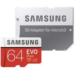 Karta pamięci Samsung MICRO SD CARD 64GB EVO + - MB-MC64GA/EU Darmowy odbiór w 21 miastach!