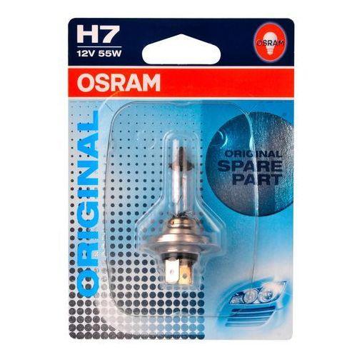 Pozostałe oświetlenie samochodu, Żarówka samochodowa H7 OSRAM Standard, PX26d, 55 W, 12 V, 1 szt.