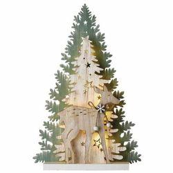 EMOS choinka świąteczna LED, 23 cm, 2 × AA, do wnętrz, ciepła biel, timer