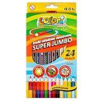 Kredki, Kredki ołówkowe dwustronne super jumbo 12szt/24kolory Kolori
