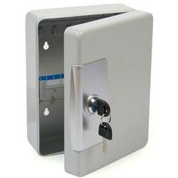 Solidna metalowa szafka na 32 klucze szara - Autoryzowana dystrybucja - Szybka dostawa