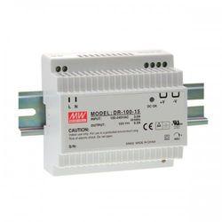 Zasilacz impulsowy na szynę DIN DR 100-12 Moc: 90W; I max: 7,5A; Uwy: 12V, 12-15V DC; Uwe 88-264V AC, 124-370V DC