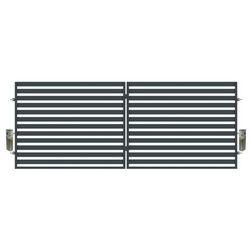 Brama dwuskrzydłowa z automatem Polbram Steel Group Lara 400 x 154 cm