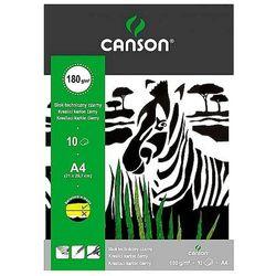 Blok techniczny A4 Canson czarny 10 arkuszy 180g/m2