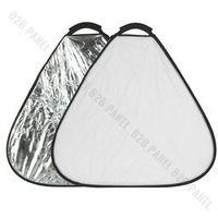Blendy fotograficzne, GlareOne Blenda trójkątna 2w1 srebrno biała, 60cm