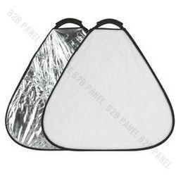 GlareOne Blenda trójkątna 2w1 srebrno biała, 60cm