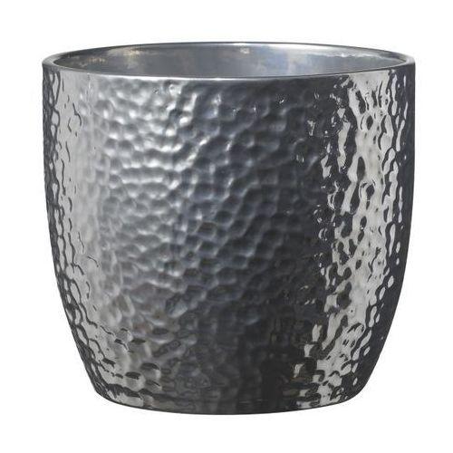 Doniczki i podstawki, Osłonka doniczki Boston 24 cm srebrna