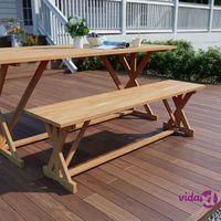 Ławki ogrodowe, vidaXL Ławka ogrodowa, 150 cm, lite drewno tekowe