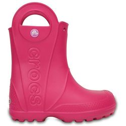 Crocs HANDLE IT RAIN BOOT KIDS Kalosze candy pink