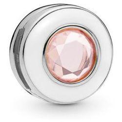 Rodowany srebrny charms pandora koralik reflexions kółko circle cyrkonia srebro 925 BEAD196RH