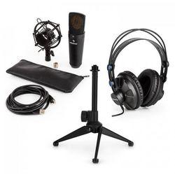 Auna MIC-920B USB zestaw mikrofonowy V1 słuchawki mikrofon pojemnościowy statyw