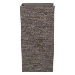 Doniczka ciemnobrązowa kwadratowa 35 x 35 x 70 cm GAZA
