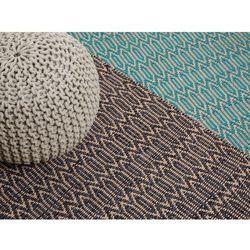 Dywan brązowo-beżowy - 120x170 cm - bawełna - juta - mata - SILOPI