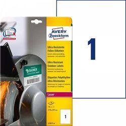 Etykiety polietylenowe ultra resistant Avery Zweckform A4 10ark./op. 210x297mm białe