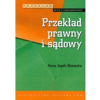 Językoznawstwo, Przekład prawny i sądowy (opr. miękka)